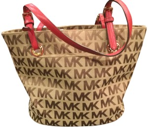 Michael Kors Tote in Light brown, red, gold