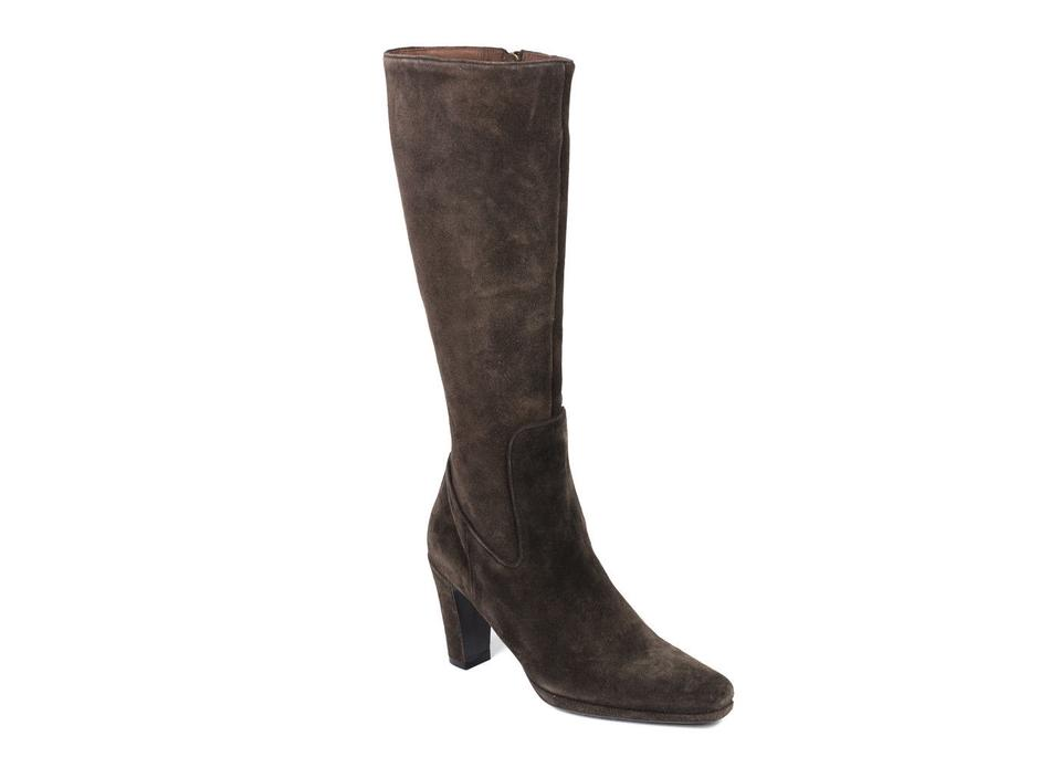 2be908a0115 The Original Car Shoe Brown By Prada Women s Suede Knee High C728 Boots  Booties