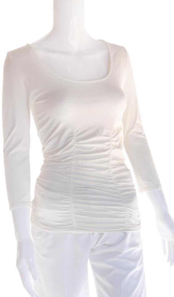 bdc169c05a65d9 Tees by Tina Once Size Long Sleeve Off White Sweater - Tradesy
