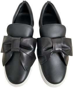 Buscemi Leather Bow Sneakers Logo Black Athletic