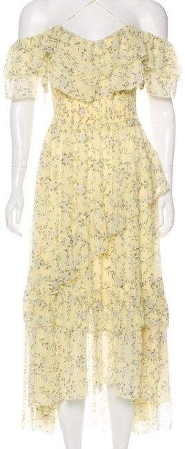 Item - Yellow Floral Mid-length Casual Maxi Dress Size 0 (XS)