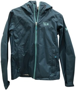 Mountain Hardwear Like New Waterproof Teal Jacket