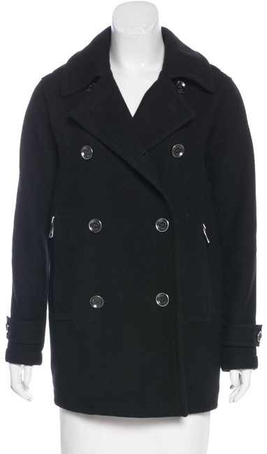 Item - Black Wool Cashmere Short Coat Size 8 (M)