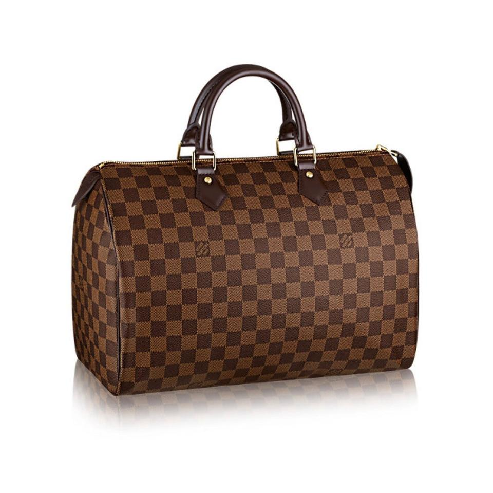 920f04cb343f Louis Vuitton Monogram Luxury Leather Limited Edition Speedy Satchel in  brown Image 0 ...