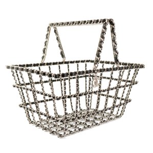 Chanel Grocery Basket Supermarket Limited Edition Tote in Black and Silver