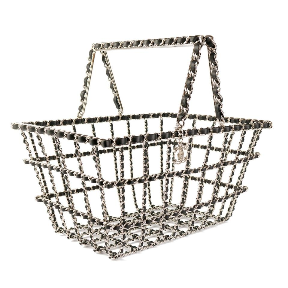 a8153911d549 Chanel Grocery Basket Supermarket Limited Edition Tote in Black and Silver  Image 0 ...
