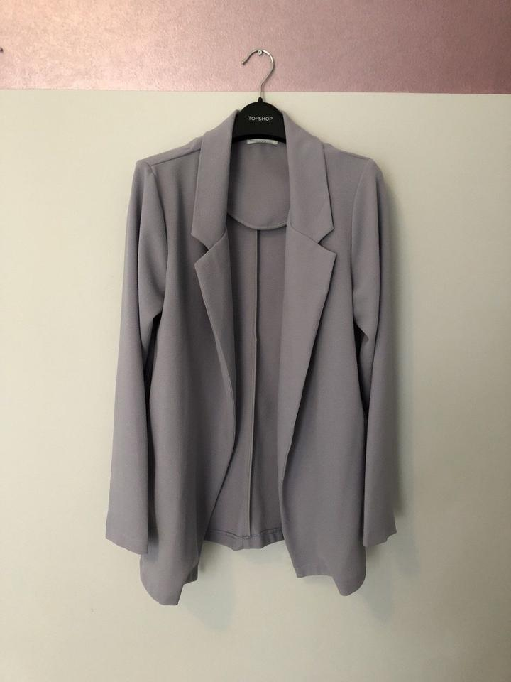 wholesale dealer a3783 c5835 Lush Crepe Novak Grey Lilac Blazer Image 4. 12345