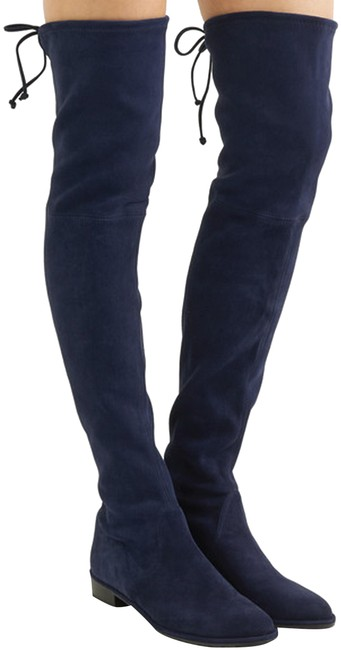 Item - Nice Blue New Lowland Suede Over The Knee Boots/Booties Size US 4 Regular (M, B)