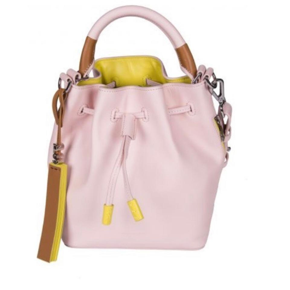 Paul Smith Ps By Mini Rose Bucket Baby Pink Calfskin Leather Cross Body Bag