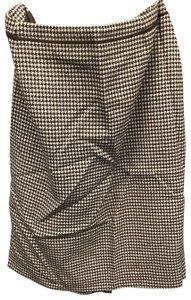 Escada Vintage Skirt Brown, Hounds Tooth