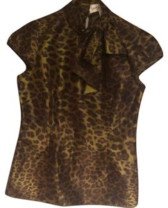 Sara Campbell Top black and gold