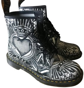 Dr. Martens Black and White Boots