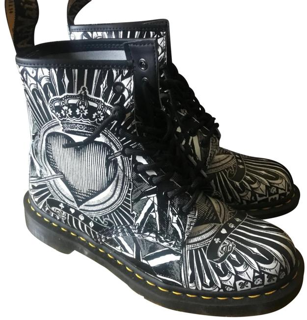Item - Black and White Playing Cards - Never Worn Boots/Booties Size US 9 Regular (M, B)