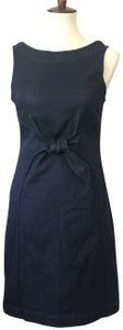 Holding Horses short dress Blue Sheath Stretch Tie Front Anthropologie on Tradesy