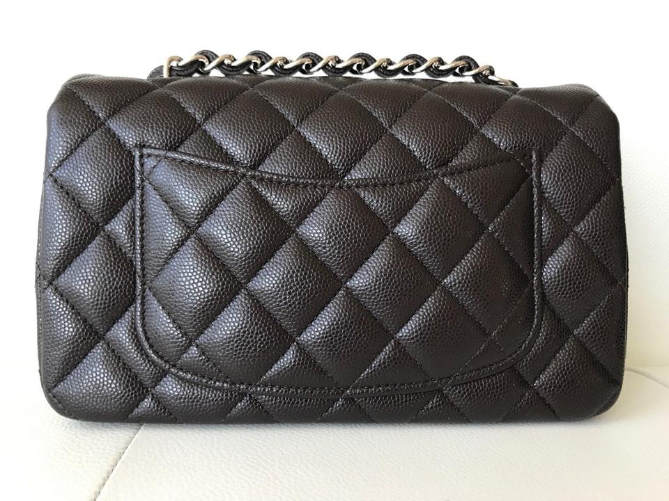 4ac6e05c3802 Chanel Mini Classic Quilted Front Flap Cross Body Bag Image 11.  123456789101112