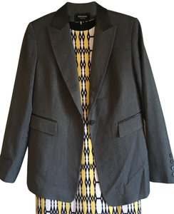 Express Leather Color-blocking Longsleeve Stretchy Classic Gray, Black Blazer