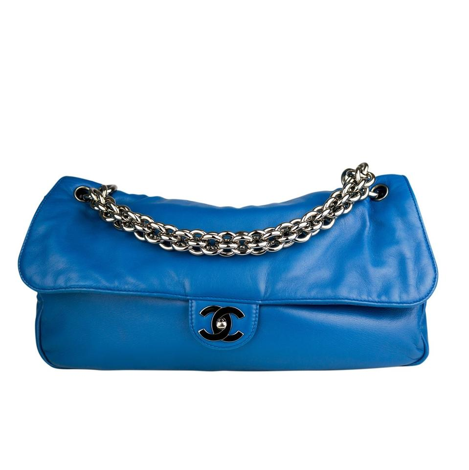 8e5f4675ffda Chanel Classic Flap Modern Thick Chunky Chain Soft Lamb Extra Large ...