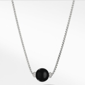 David Yurman Solari Pendant Necklace with Diamonds and Black Onyx