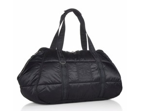 Chanel Sports Line Gym Coco Niege Cocoon Tote in Black