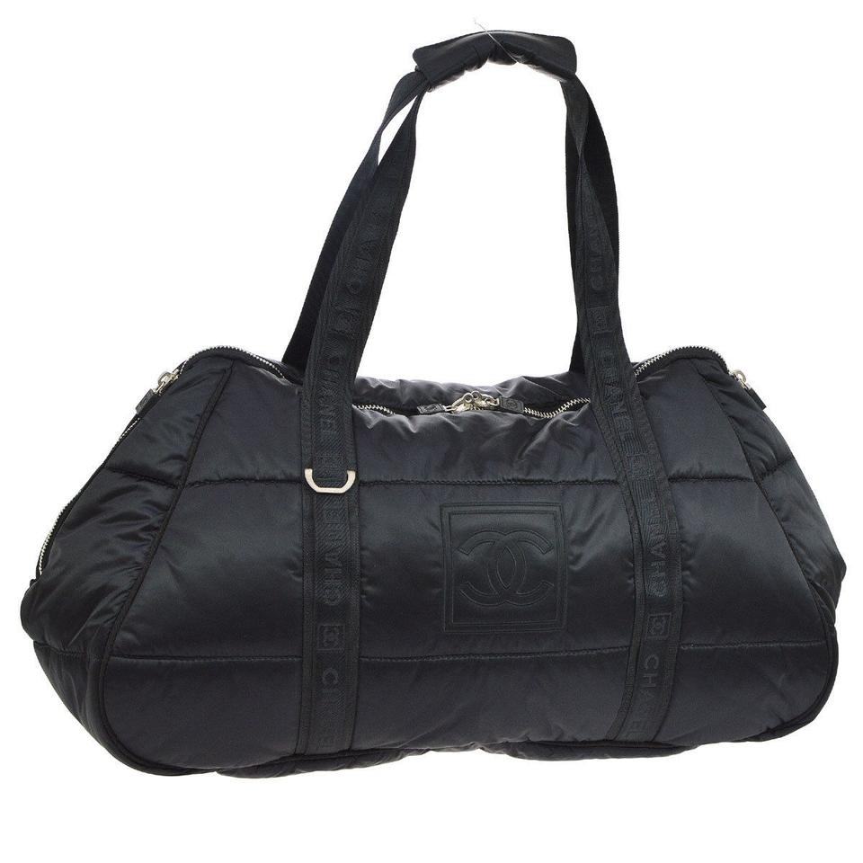 644b113295033f Chanel Sports Line Gym Coco Niege Cocoon Tote in Black Image 7. 12345678