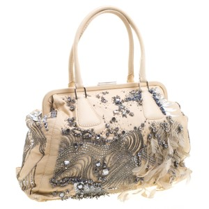 Valentino Feathers Beads Crystals Shoulder Bag