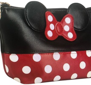 Disney Disney Mickey Mouse Minnie polka dot traveling cosmetic makeup Toiletry purse case bag