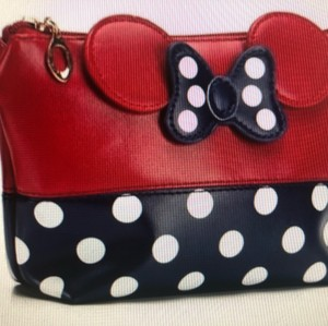 184f8026a37 Disney Disney Mickey Mouse Minnie polka dot traveling cosmetic makeup  Toiletry purse case bag