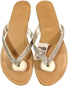 Charlotte Russe Glitter 7b Free -promo Silver Sandals