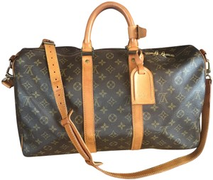 Louis Vuitton 45 Lv Keepall Lv Bandoliere Keepall 45 Tote in Brown monogram