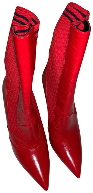Item - Red Boots/Booties Size US 9 Narrow (Aa, N)