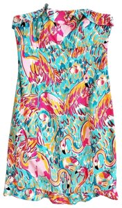 Lilly Pulitzer short dress pink, blue on Tradesy