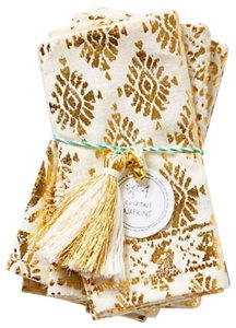 Anthropologie Ivory Gold Twelve_golden_filigree_napkins