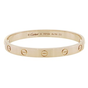 Cartier Love Bracelet Bangle Size 16 18K Pink Gold