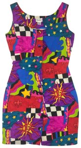 Neiman Marcus short dress Multi-color on Tradesy