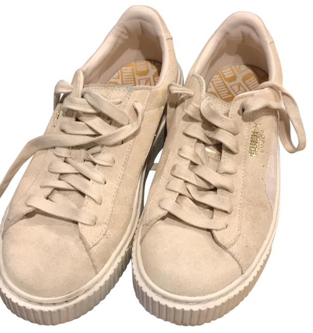 Item - Ivory Suede Sneakers Size US 7 Regular (M, B)