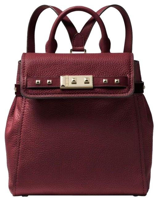Item - Addison Small Pebbled Oxblood/Gold Leather Backpack