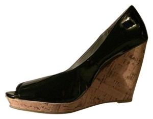 Sam & Libby Black Patent Wedges