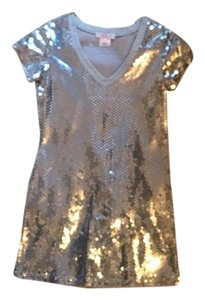 LaROK Top Grey/Silver Sequins