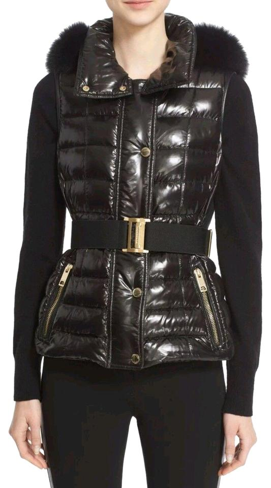 6eb66effc68cf Burberry London Black Willowbank Quilted Hooded Down Genuine Fox Fur ...