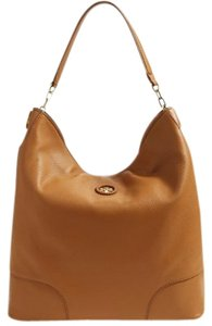 Tory Burch Hobo Leather Tote in Brown tan bark