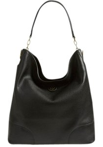 Tory Burch Hobo Leather Tote in Black