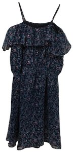Lucca Couture short dress Blue, Purple Floral on Tradesy