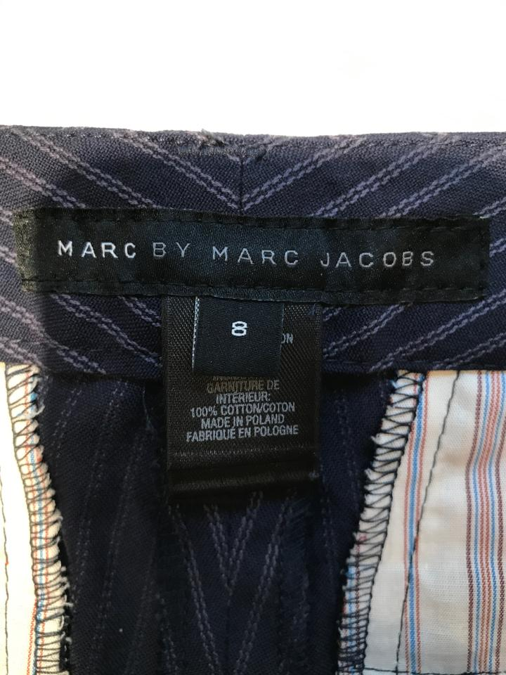 f7a06eb6cf Marc by Marc Jacobs Navy with Grey Pin Stripes Leg Pants Size 6 (S ...