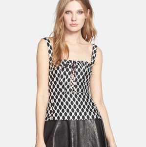 Diane von Furstenberg Top black white
