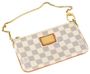 Louis Vuitton Convertible Wristlet in Blue and white