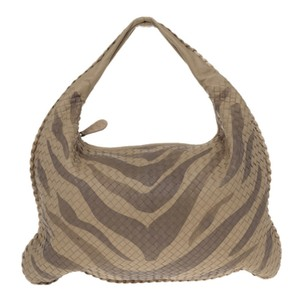 Bottega Veneta Woven Tiger Pattern Leather Hobo Bag