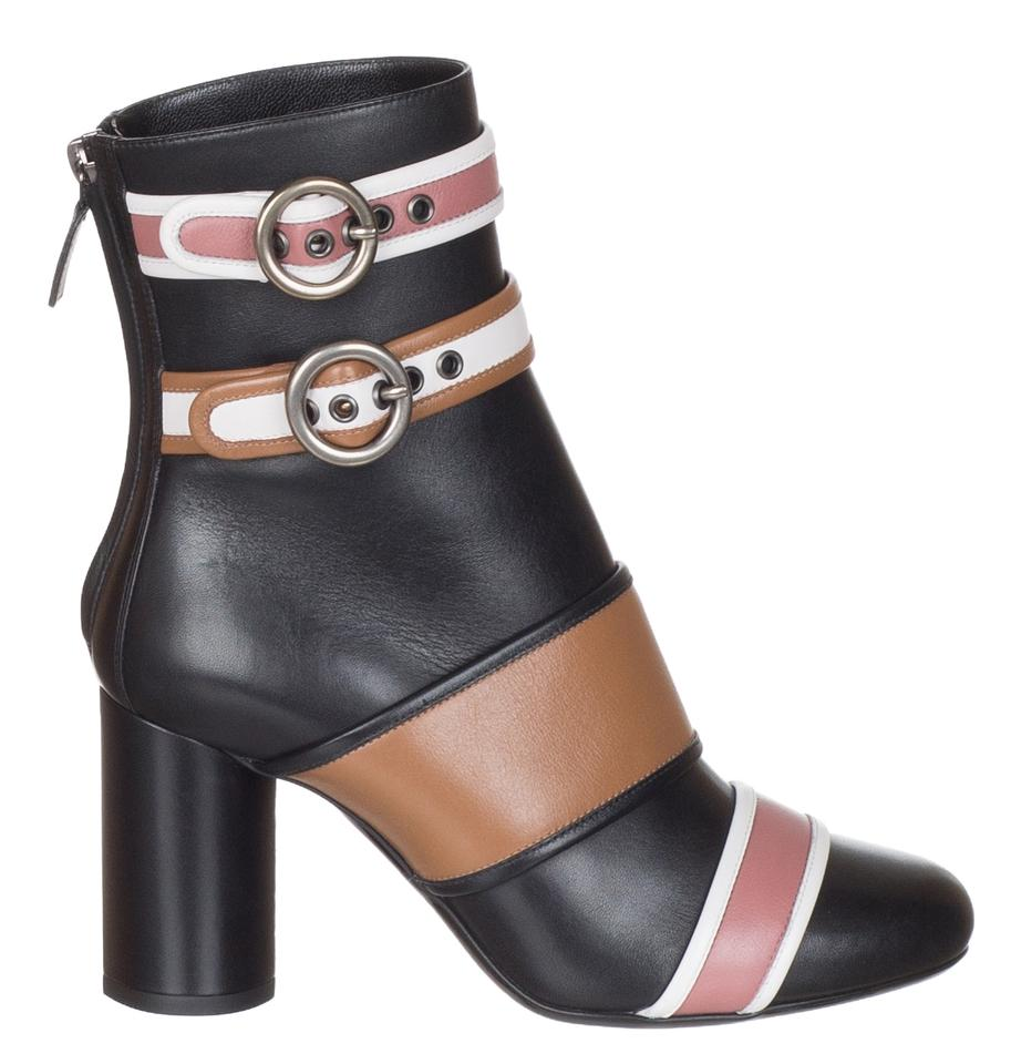 61499337ad1d Lanvin Black Women s Nappa Leather Colorblock Ankle Boots Booties ...