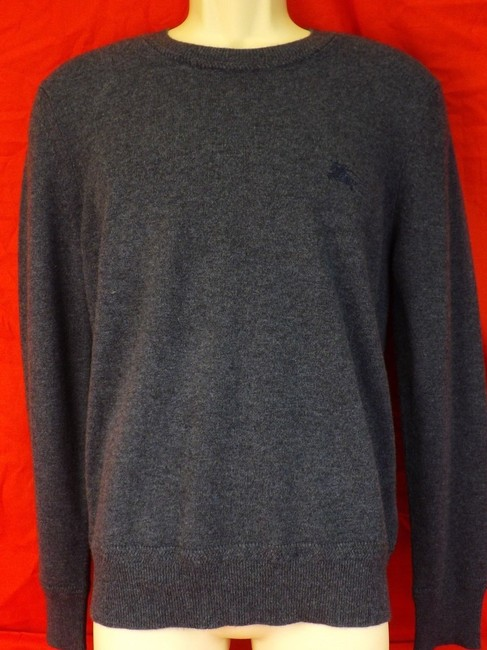 Item - Blue L Hennings Airforce Cashmere Logo Pull Over Sweater Shirt