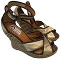 Lanvin Gold Wedges