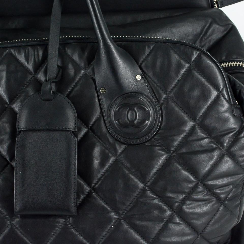 5ef8b4f22ac2 Chanel Quilted Rolling Black Leather Weekend/Travel Bag - Tradesy